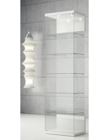 Vetrina con due faretti LED cristallo temperato cm 60 x 40 x 210h