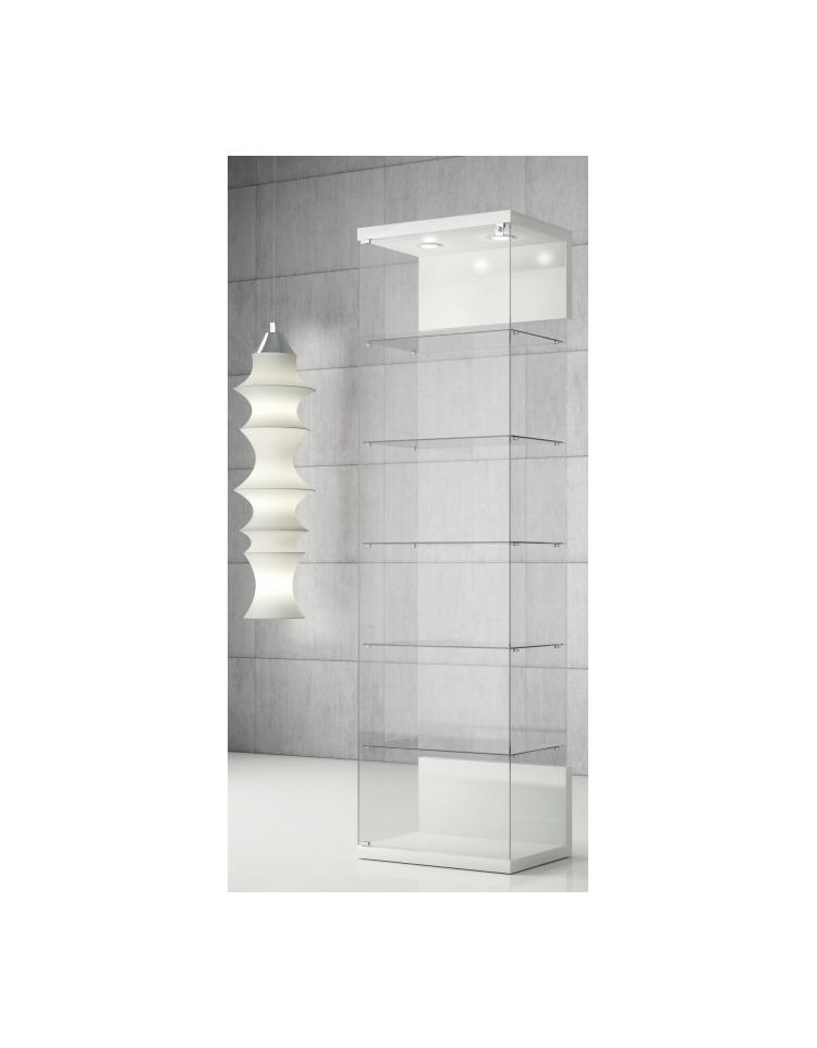 Vetrina con due faretti led cristallo temperato cm 60 x 40 for Vetrine in cristallo arredamento