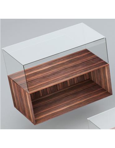 Banco con teca in vetro temperato cm 110 x 55 x 75h