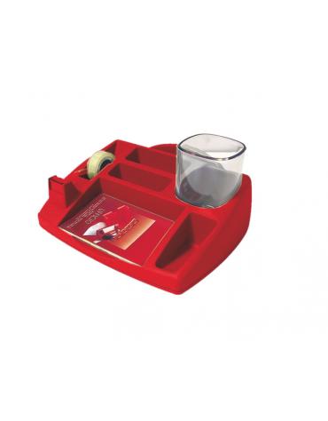DESK OPACO  colori: rosso  cm. 23,8 x 19,8 x 7 h