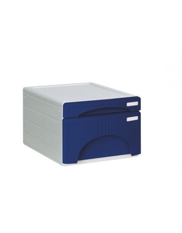 CASSETTIERA 2 CASSETTI  colori: rosso - blu  cm. 31 x 40 x 22,5 h.