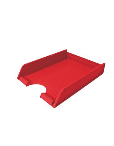 PORTA CORRISPONDENZA IN PLASTICA  colori opachi: rosso  colori trasparenti: arancio  cm. 26 x 33,8 x 6,5 h.