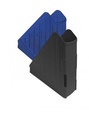 PORTA RIVISTE IN PLASTICA  colori opachi: rosso - nero - blu  colori trasparenti: blu  cm. 27 x 7,5 x 29,5 h.