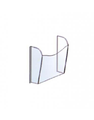 ESPOSITORE TASCA DA MURO 2 pezzi cm. 25 x 7,5 x 33,5 h.