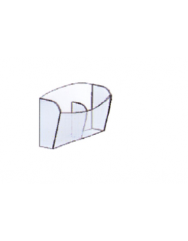 ESPOSITORE TASCA DA MURO  a 2 scomparti  cm. 22,5 x 5 x 26 h.