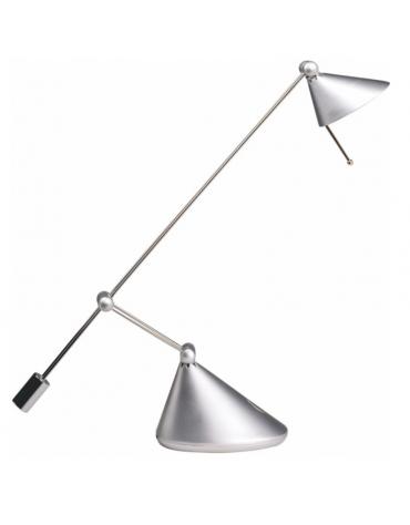 Lampada da tavolo in materiale plastico. Bracci metallici conduzione di tensione - Completo di  lampada alogena 12v 50w