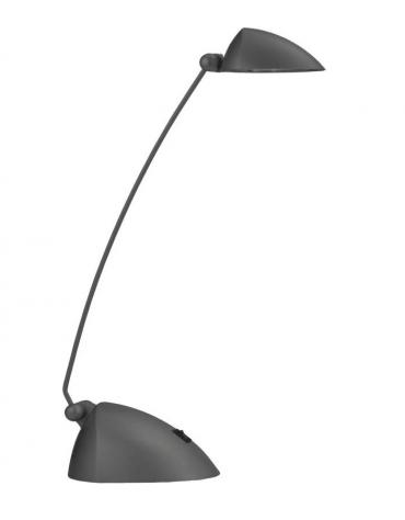 Lampada da tavolo in materiale plastico cromato. Completo di lampadina alogena 12v 50w e  vetro di protezione.
