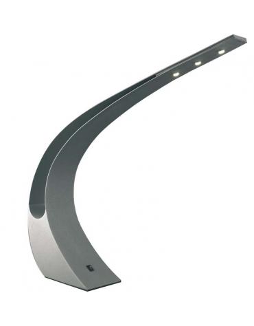 Lampada da tavolo in metallo laccato. La lampada è comprensiva di 3 LED  a basso consumo e alta luminosità di 3W - 3300K.