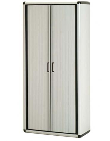 Armadio salvaspazio in termoplastico - Ante a serrantina e 4 ripiani - cm. 79x39x169h