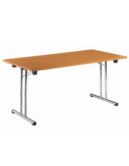 Struttura Pieghevole Per Tavolo.Tavolo Pieghevole Piano In Melaminico Faggio O Bianco Struttura In