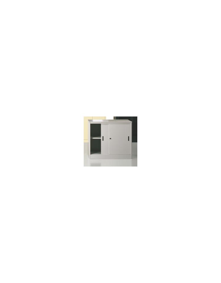 sopralzo ante scorrevoli in metallo con serratura cm 120 x 45 x 88 h sopralzi con ante. Black Bedroom Furniture Sets. Home Design Ideas