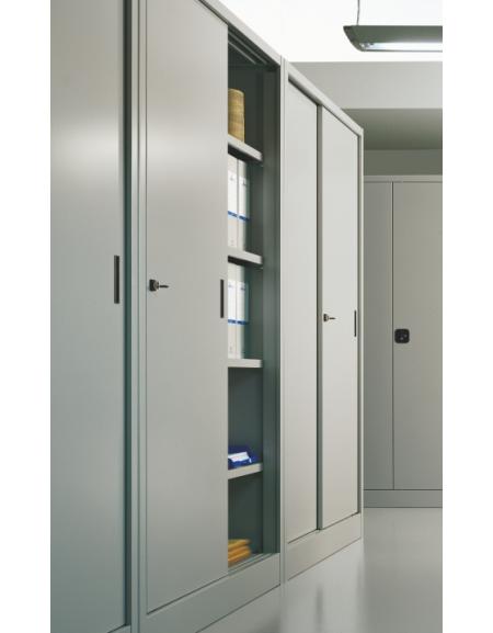 armadio ante scorrevoli in metallo con serratura cm 150 x