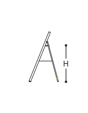 SCALA IN ALLUMINIO CERTIFICATA PROFESSIONALE cm. 116 h - 5 gradini
