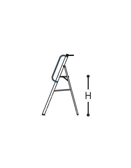 SCALA IN ALLUMINIO CERTIFICATA PROFESSIONALE CON DOPPIO CORRIMANO cm. 139 h. - 6 gradini