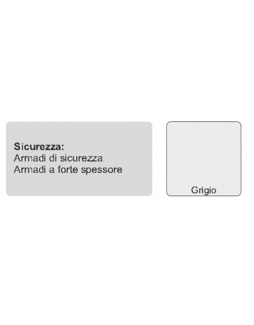 ARMADIO DI SICUREZZA CON COMBINAZIONE LAMIERA MM. 30/10 cm. 100 x 50 x 200 h.
