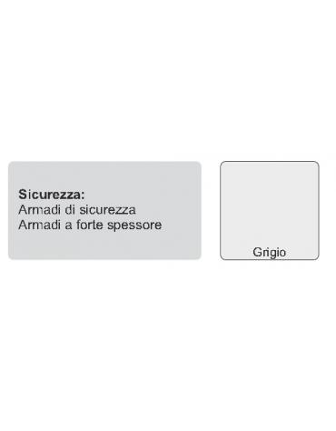 ARMADIO DI SICUREZZA CON COMBINAZIONE LAMIERA MM. 30/10 cm. 100 x 60 x 200 h.