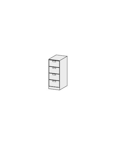 CLASSIFICATORE TIPO A 4 CASSETTI CON SERRATURA cm. 50 x 63 x 136,8 h.