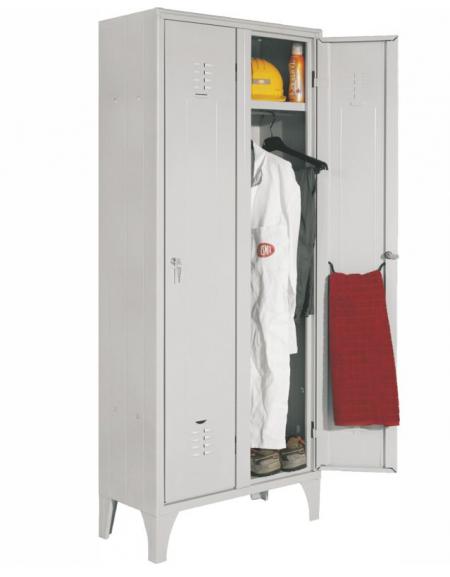 armadio spogliatoio 2 posti - anta grigio - cm. 70 x 35 x 180 h