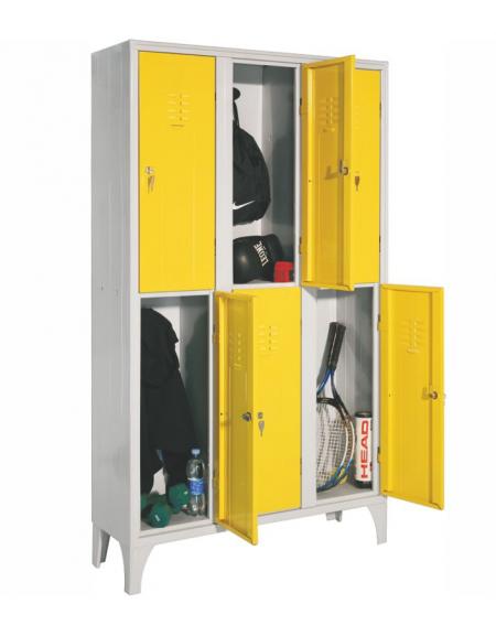 armadio multispogliatoio 6 posti con ante colorate cm. 105 x 35 x