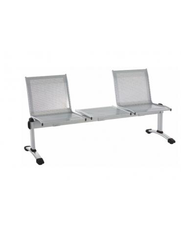 Panca da attesa - 3 Posti - colore alluminio o nero - cm 165x62x83h