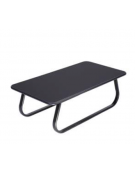 Tavolo d'attesa rettangolare con piano in legno verniciato nero cm 105x55x34h