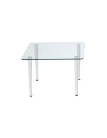 Tavolo Quadrato Allungabile Vetro Trasparente.Tavolo Vetro Quadrato Tavolo Da Parete Allungabile