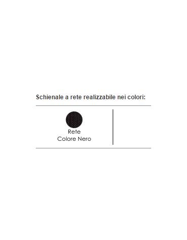Sedia fissa di attesa o conferenza con telaio nero o grigio - vari colori - cm 47x48.5x79.5h