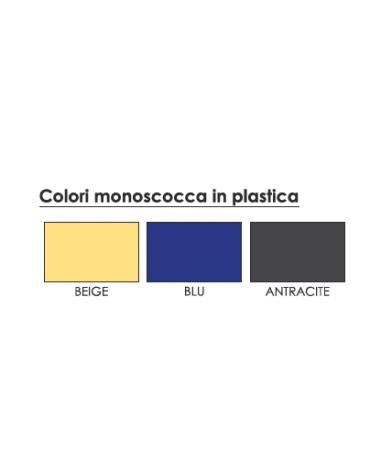 Sgabello con monoscocca in plastica cm 39x38x103h