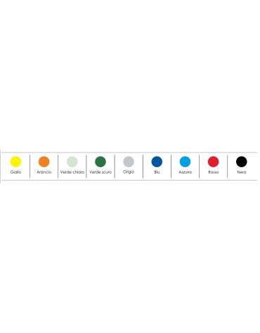 Sedia fissa con braccioli di attesa o conferenza in plastica indeformabile - vari colori - cm 64x63x78h