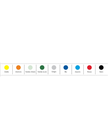 Sedia fissa attesaconferenza in plastica con bracciolo e scrittoio - vari colori - cm 58x63x78h