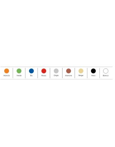 Sedia fissa con gancio di attesaconferenza monoscocca in plastica indeformabile - vari colori - cm 49x54x77h