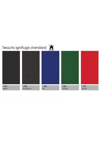 Poltrona visitatore a slitta rivestimento in PU effetto pelle - colore nero o bianco cm 55x53x92h