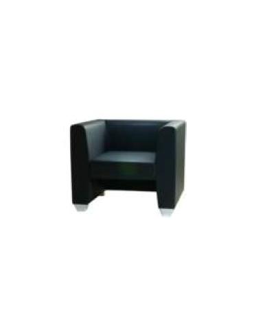 Poltrona attesa 1 posto con struttura portante in multistrato cm 78x63x70h
