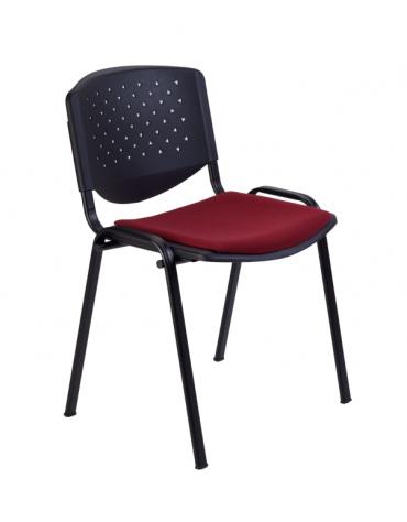 Sedia da attesa - Struttura in acciaio - schienale forato - sedile con imbottitura - cm 54x59x77h