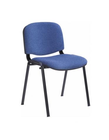 Sedia fissa attesaconferenza telaio in acciaio a sezione ovale cm 54x61x80h