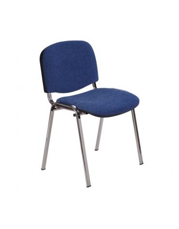 Sedia fissa di attesaconferenza con telaio cromato - cm 54x61x80h