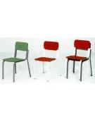 Sedia sovrapponibile sedile e spalliera laminato colorato