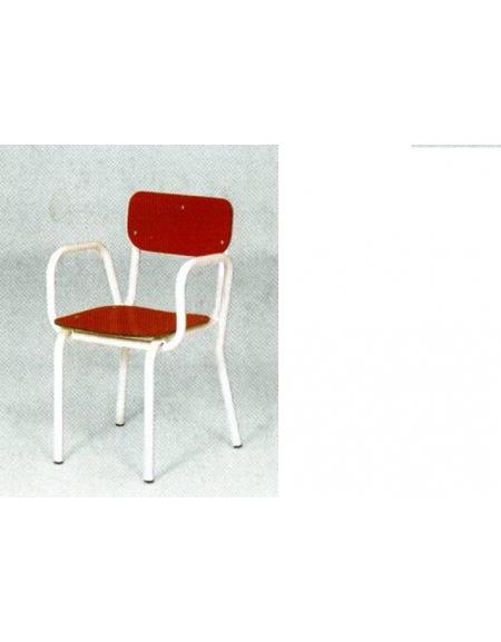 Poltroncina con braccioli sedile e spalliera laminato colorato