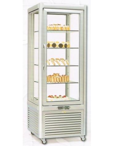 Vetrina refrigerata verticale per pasticceria Dimensioni: larghezza mm.680, profondità mm.690, altezza mm.1820.