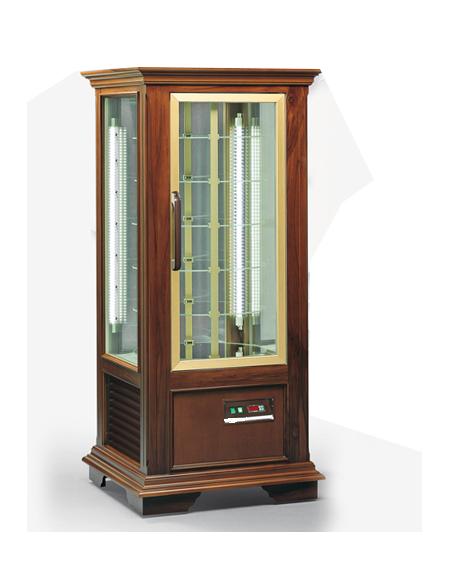 Vetrina espositiva verticale refrigerata in legno colore noce mm ...
