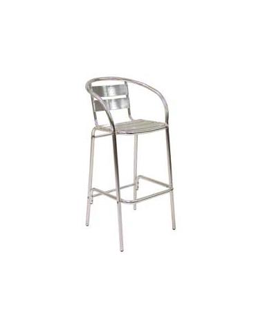 Sgabello alluminio con schienale