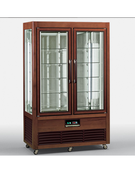 Vetrina espositiva verticale refrigerata in legno colore for Vetrine in cristallo arredamento
