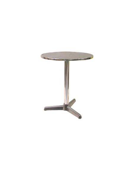 Tavolo Tondo Alluminio.Tavolo Tondo Diametro Cm 60 Bar Alluminio Palo Centrale