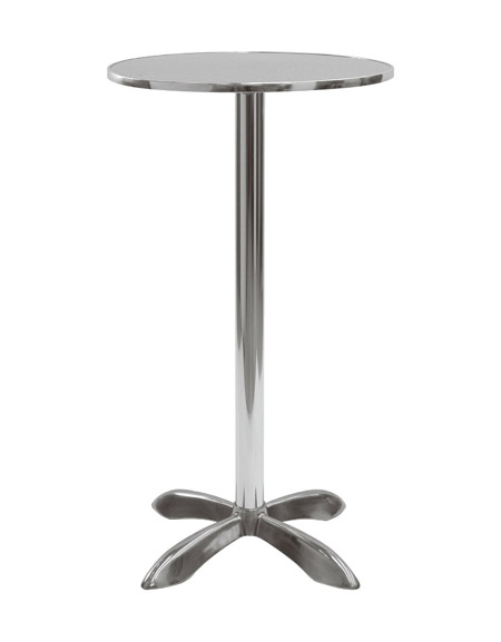 Tavolo alluminio tondo bar alto diametro piano cm 60 tavoli linea alluminio sedie e - Tavolo profondita 60 cm ...