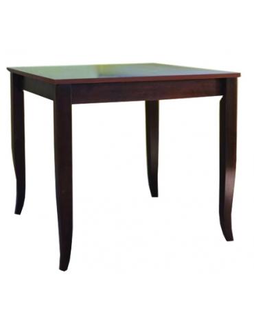 Tavolo ristorante legno massello noce cm. 80x80x74h