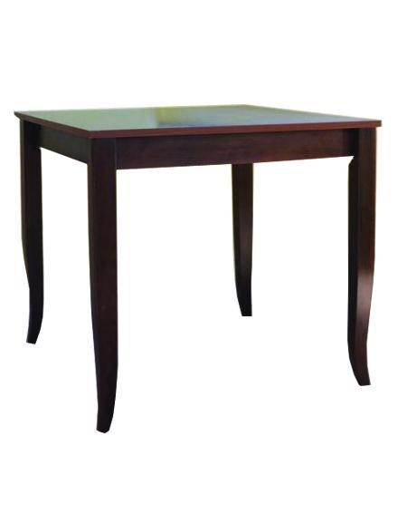 Tavolo ristorante legno massello noce cm. 80x80x74h - Sedie e tavoli ...
