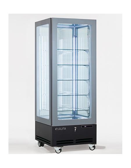 Vetrina espositiva verticale refrigerata con struttura a for Vetrine in cristallo arredamento