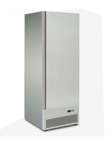 Armadio refrigerato GN2/1 ventilato con interni ed esterni in acciaio inox, mm  680x880x1980h