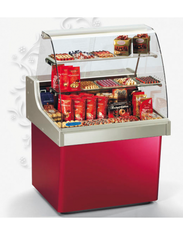 Vetrina Orizzontale Refrigerata per cioccolata - Temperatura +14°/+16°C - mm 1316x872x1384h