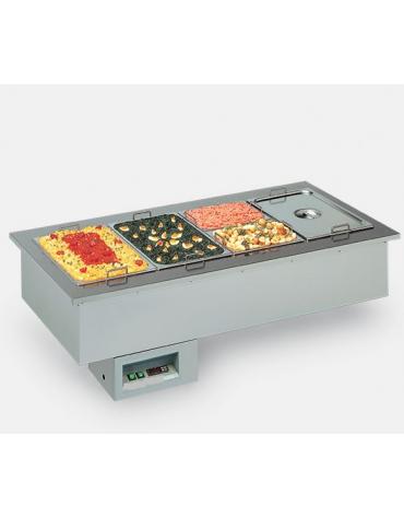 Vasca riscaldata da Incasso per Gastronomia - Bagnomaria - Vaschette GN - mm 800x749x414h